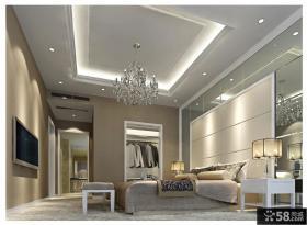西溪蝶园欧式华丽的三居室卧室吊顶装修效果图