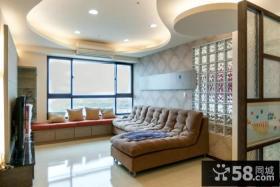美式家装设计室内客厅吊顶图片欣赏大全