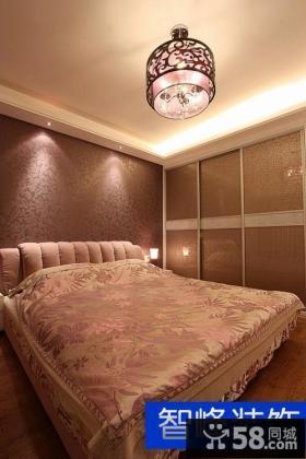 现代风格卧室床头壁纸效果图欣赏
