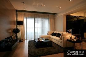 现代风格客厅落地窗帘效果图大全图片