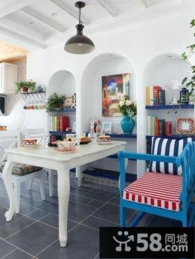 地中海风格别墅餐厅设计装修图片