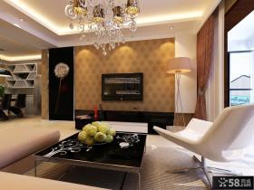 二居室简约时尚的电视背景墙装修效果图