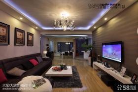 现代家装设计客厅电视背景墙效果图