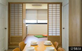 日式风格榻榻米与餐厅隔断设计图片