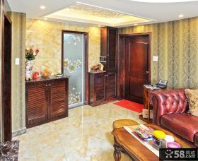 中式客厅玄关装修效果图欣赏