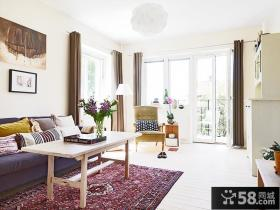 简约60平米小户型客厅装修效果图欣赏
