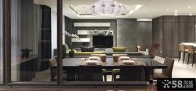 后现代风格室内客厅电视背景墙