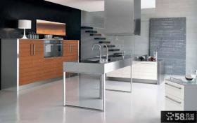 整体厨房不锈钢台面图片欣赏
