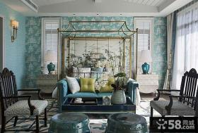新中式别墅卧室装修效果图片