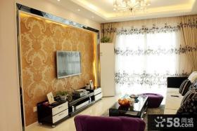 现代风格壁纸电视背景墙装修效果图大全