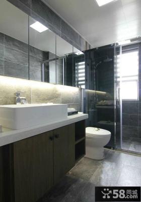 美式风格简约设计卫生间装修图片