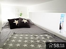 40平超小户型白色简洁之家客厅装修效果图大全2014图片