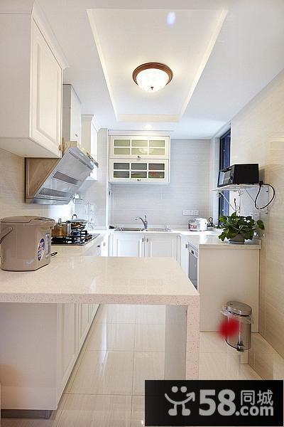 简约长方形厨房吊顶效果图