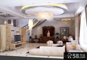 别墅客厅吊顶装修效果图大全2012图片