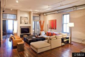 混搭风格室内设计客厅电视背景墙图片欣赏