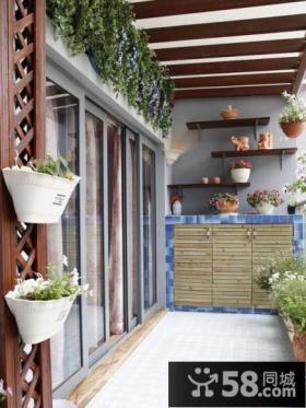 美式小阳台花园设计效果图