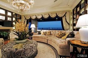 欧式风格别墅客厅茶几图片