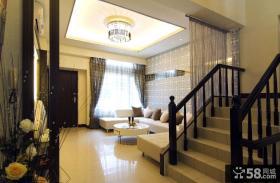 家装复式设计客厅吊顶大全图