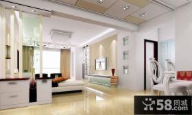 现代简约风格客厅与餐厅隔断装修效果图