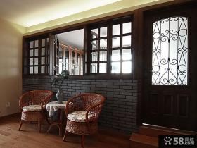 家装休闲区藤椅图片
