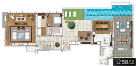 农村一居室别墅设计图纸
