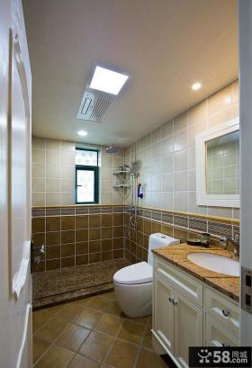 美式风格卫生间装饰设计案例图片