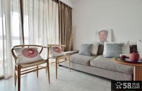 简约中式风格一居室装修图片大全