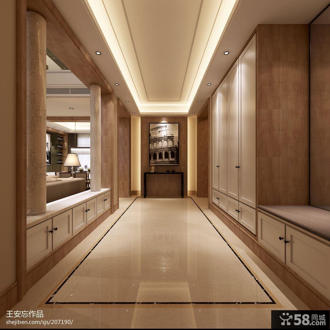 走廊玄关鞋柜装修效果图