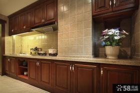 美式风格厨房装修图