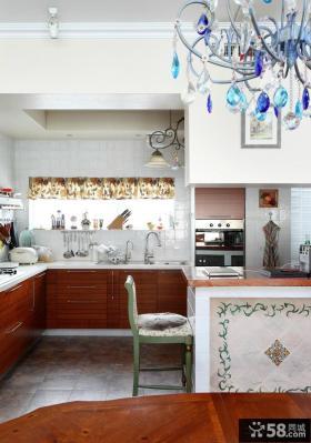 田园风格两室两厅u型厨装修效果图