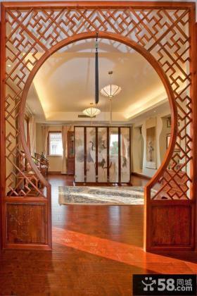 中式家居玄关隔断设计图片