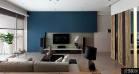 现代简约装修风格电视墙效果图