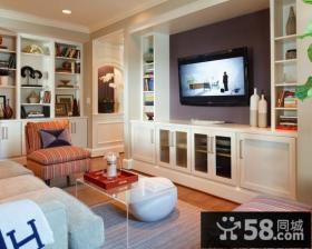 田园风格小客厅电视墙造型