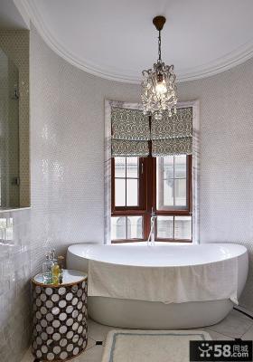 简欧风格别墅室内浴室效果图片