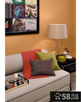 橙色沙发背景墙装修效果图