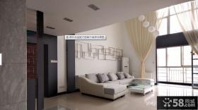 顶层复式装修效果图 复式客厅窗帘设计
