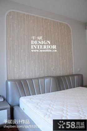 卧室床头壁纸背景背景墙效果图片大全
