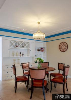 时尚地中海风格餐厅设计效果图欣赏