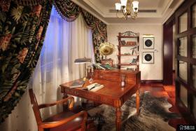 美式乡村风格书房装修效果图片