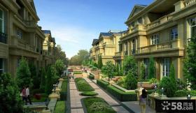 欧式联排别墅设计效果图大全