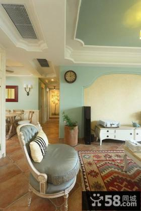 欧式风格客厅单人椅效果图
