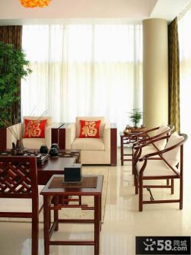 喜庆新中式客厅装修