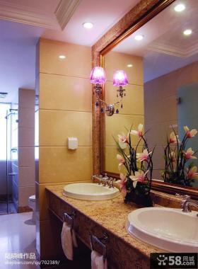 简约美式洗手台镜前灯图片