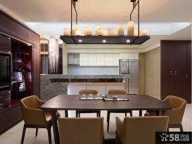 现代时尚家居餐厅设计装修效果图