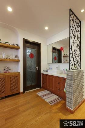 美式风格100平米三室两厅图