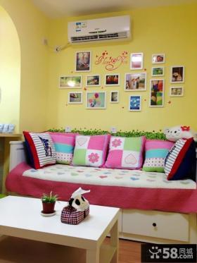 家装沙发背景墙照片墙效果图