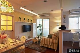 东南亚风格室内客厅电视背景墙图片大全