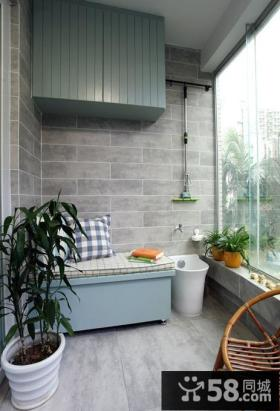现代小户型阳台设计效果图