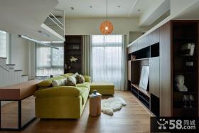 现代风格小别墅室内沙发效果图片