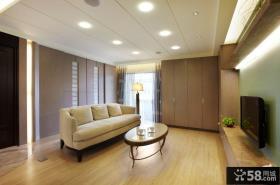 现代美式客厅电视背景墙效果图大全